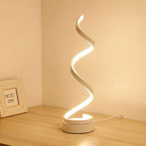 stylishlytechie:Minimalist S-Shaped LED Table Lamp:
