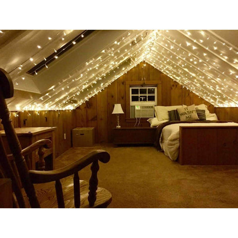 stylishlytechie:Twinkle Star 300 LED Window Curtain String Light