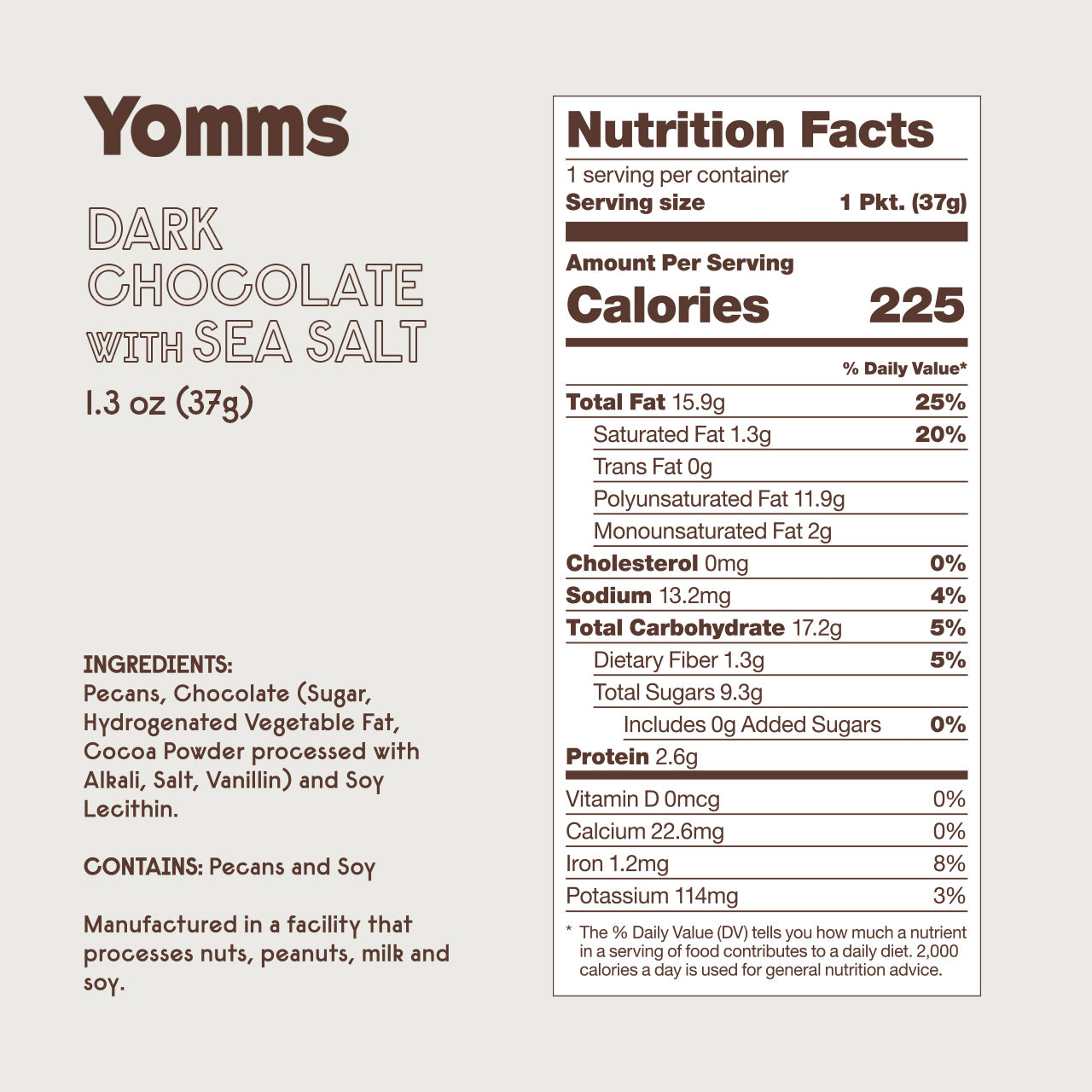 Yomms Chocolate Mix 1.3 oz