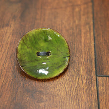 Coconut shell button pins
