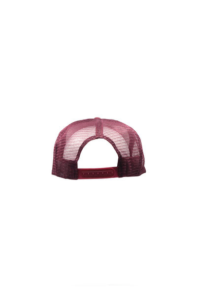 Gas Station Trucker Hat - Burgundy / Cream