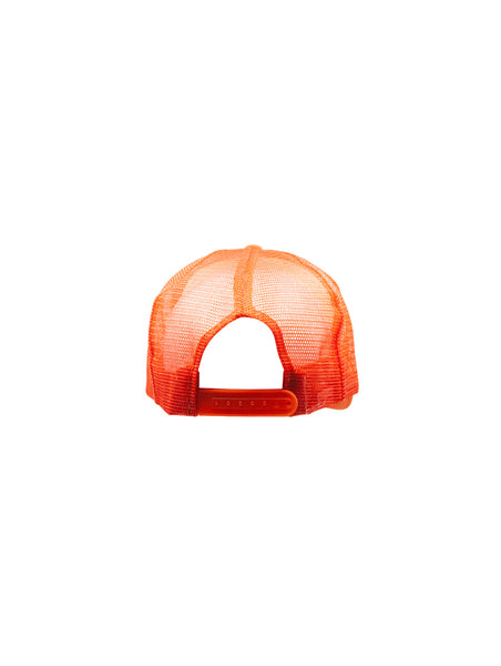 Emblem Trucker Hat - Orange / White / Black