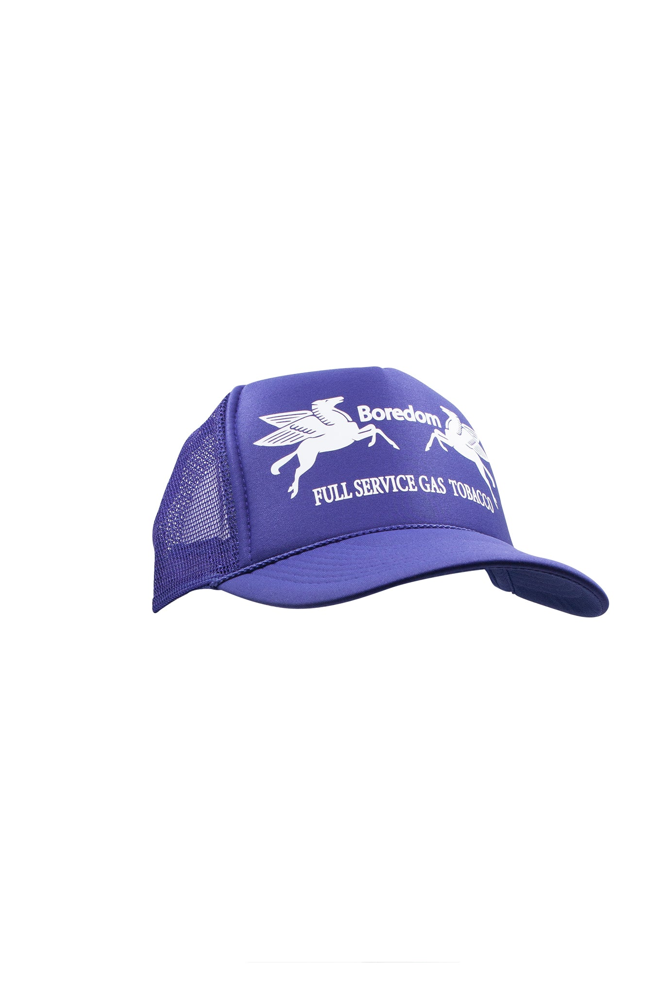 Gas Station Trucker Hat - Grape Purple / White