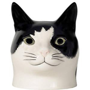 Black and White Cat Face Egg Cup