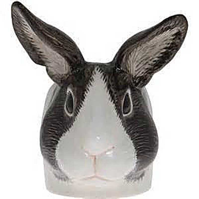 Grey and White Rabbit Face Egg Cup