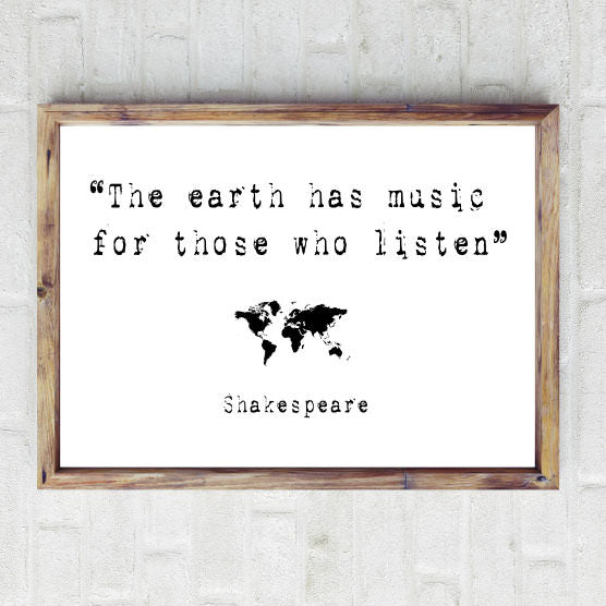 Shakespeare quote print