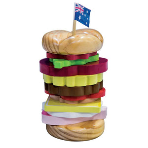 Iconic Wooden Stacking Burger
