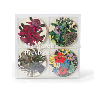 Margaret Preston Corkboard Coaster Set