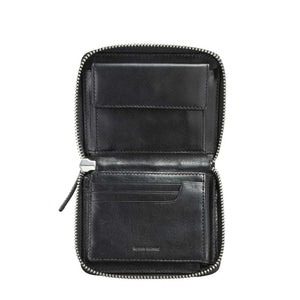 Darius Black Leather Wallet