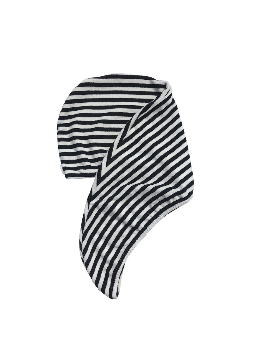 Riva Hair Towel Wrap Monochrome Stripe