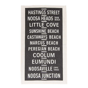 Noosa Towns tea towel