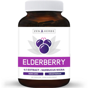 Elderberry 4:1 Extract Capsules (Non-GMO)