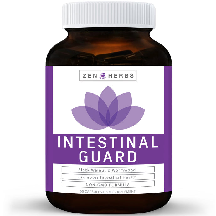 Intestinal Guard (NON-GMO) Intestinal Cleanse for Humans - Wormwood & Black Walnut- 100% Money Back Guarantee - 60 Capsules