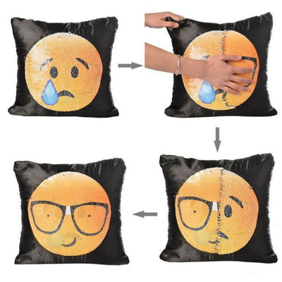 TLK CHANGING FACE EMOJI CUSHION COVER
