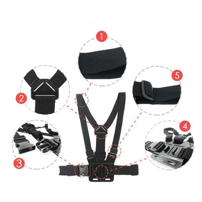 TLK CHEST STRAP TRIPOD HARNESS MOUNT