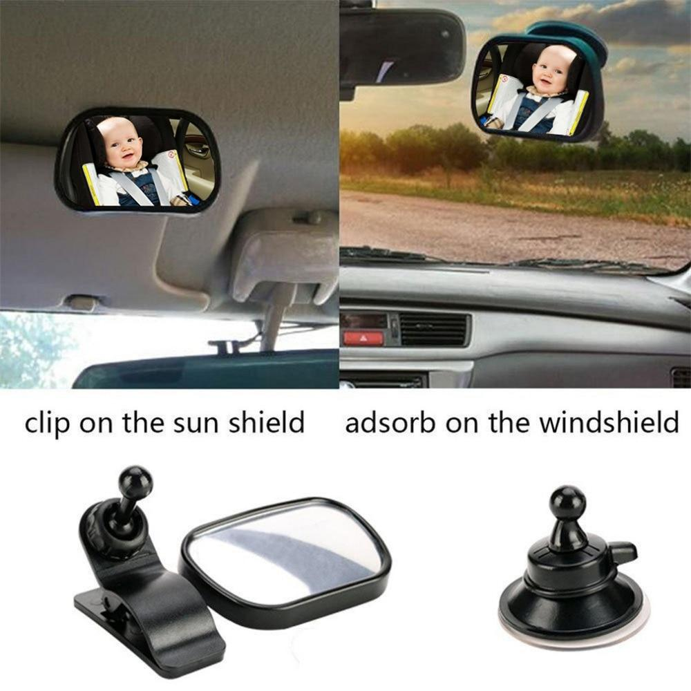 Baby Car Mirror Back Seat Rear Ward Safety View for Infant w// Clamp /& Sucker