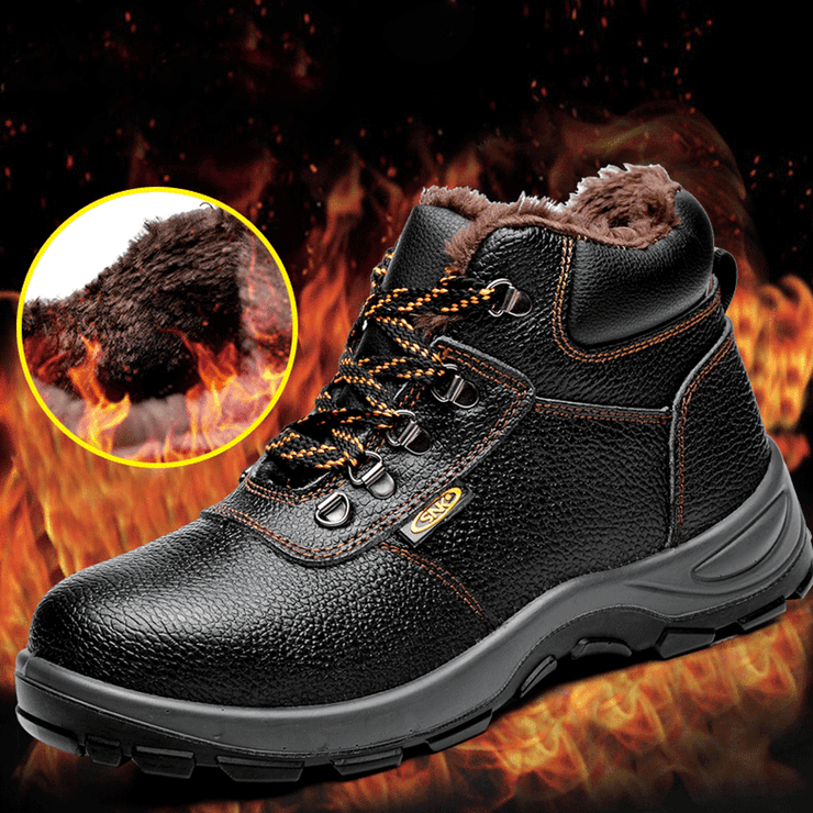 Tough Breathable Leather Work Shoes