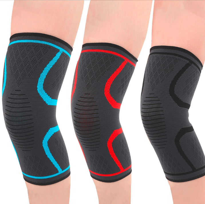 Sports Safety Knee Compression Sleeve (1 Pair)