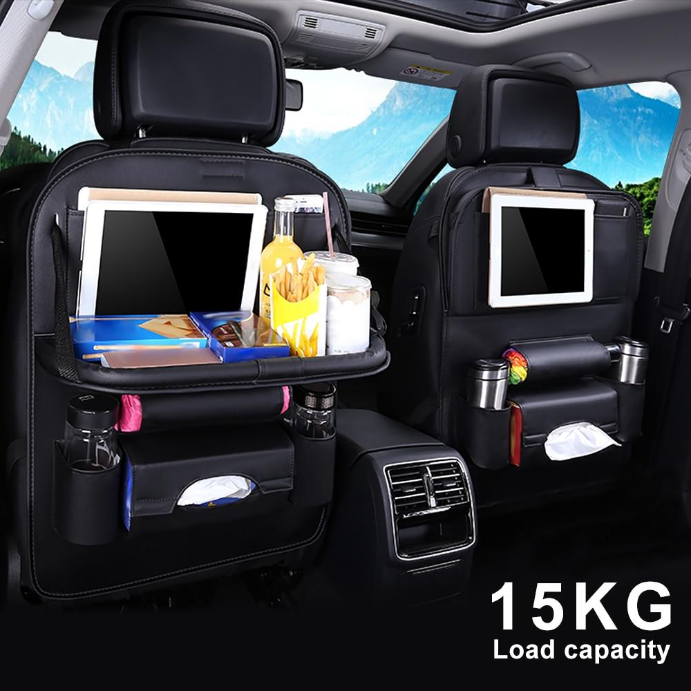 New Universal Auto Back Seat Car Black Durable Organizer 7 Different Pockets