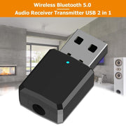 USB Bluetooth Adapter Dongle Mini 4.1 Stereo 3.5mm Jack for Car