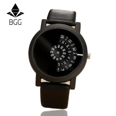 2017 BGG creative design wristwatch camera concept brief simple special digital discs hands fashion quartz watches for men women