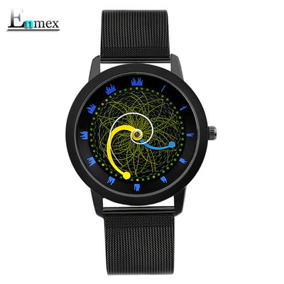 2018gift Enmex cool style wristwatch star orbital concept star vortex the story of the Starry sky casual quartz fashion watch