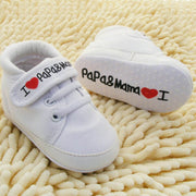 "Oh-so-cute ""I Love Papa & Mama"" Baby Sneaker"