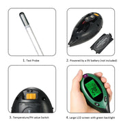 Soil PH Meter Digital 4 in 1