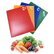 Extra Thick Flexible Cutting Mats With Food Icons (Set of 4)