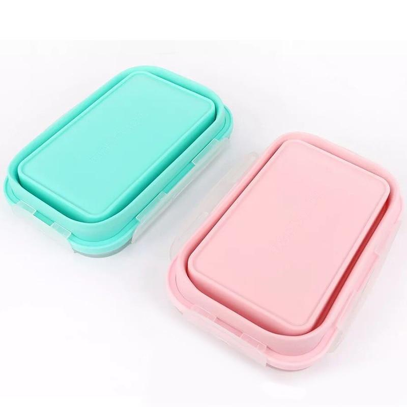 Silicone Collapsible Food Containers Set Of 4 Food Containers