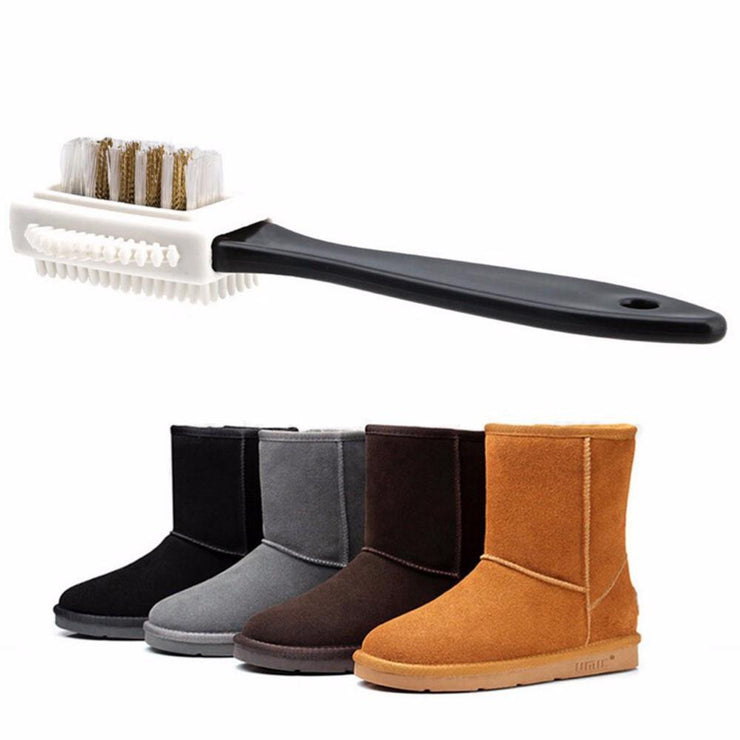Triple Action Shoe Brush