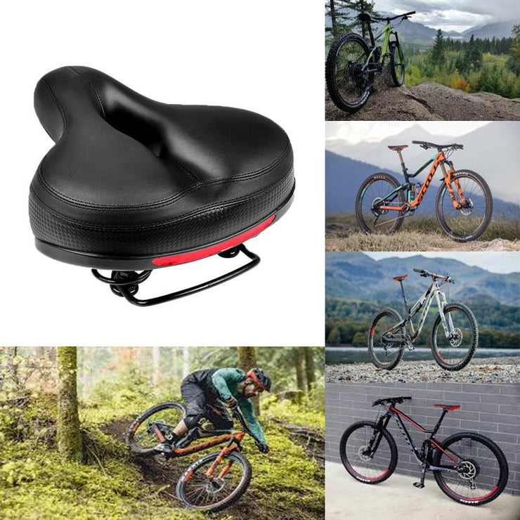 Bicycle Saddle with Dual Shock Absorber