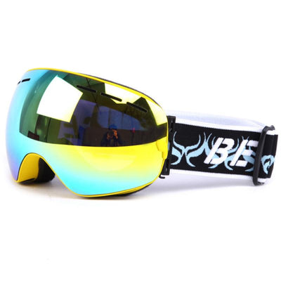 Professional Ski Goggles (Dual-layer UV400 Arc Shaped Anti-fog Glasses for Winter)
