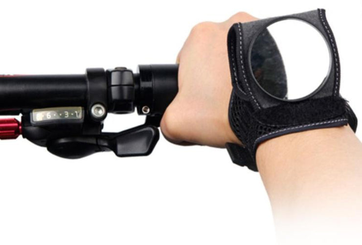 "Sporty Strap-On Wrist Cycling Rear View Mirror""Safety & Adaptability on the Road"""