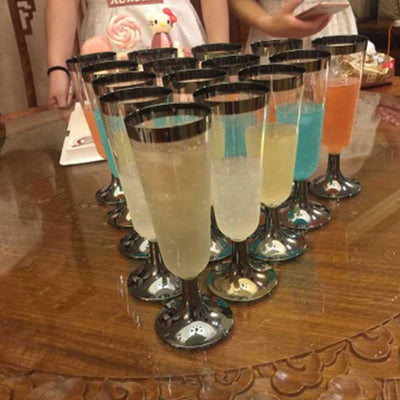 6 pcs Disposable Champagne Glass