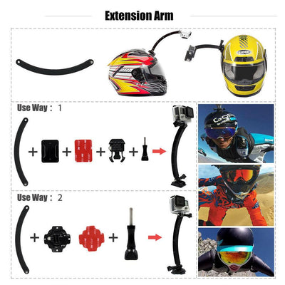 TLK ® MOTOR CYCLE HELMET EXTENSION SELF PHOTO MOUNT