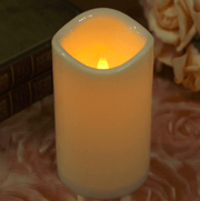 Flameless Flickering Led Wax Pillar Candles