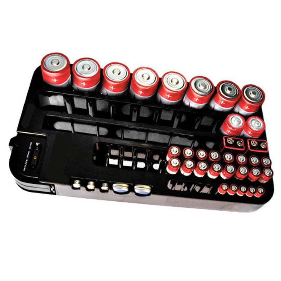 cd40205e817 Battery Organizer with Removable Volt Tester