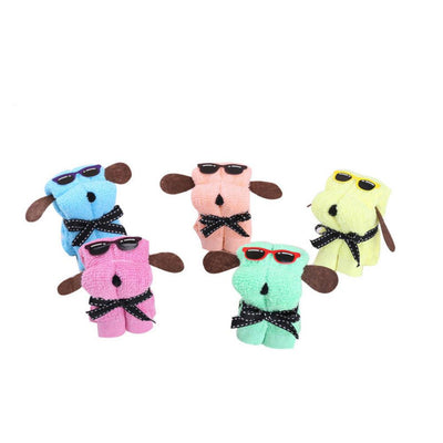 TLK ® CUTE DOG SHAPE COTTON TOWEL
