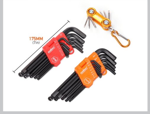 Allen Wrench Ball End Hex Key Set With Screw Driver Set Mini