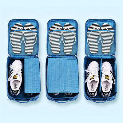 Traveler's Compact Waterproof Shoe Bag