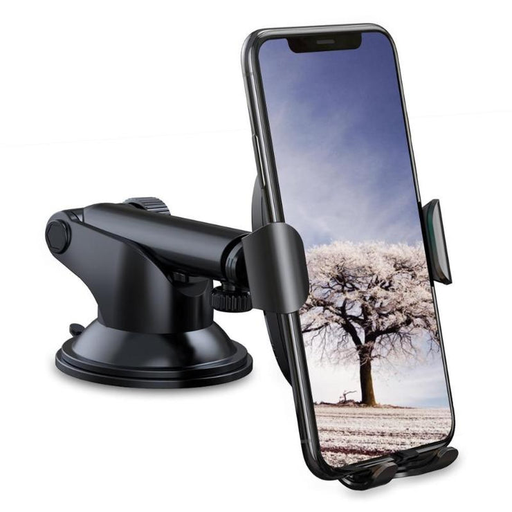Wireless Charging Car Phone Mount With Gravity Sucker Cup