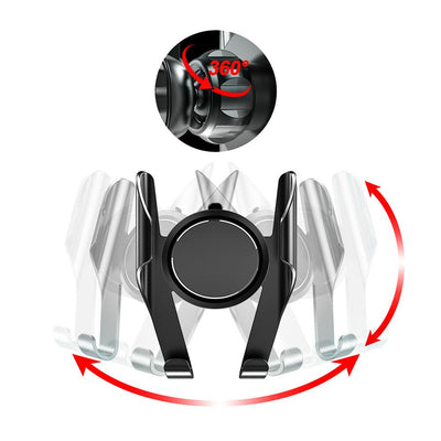 360 Degree Spring Action Suction Cup Car Phone Mount