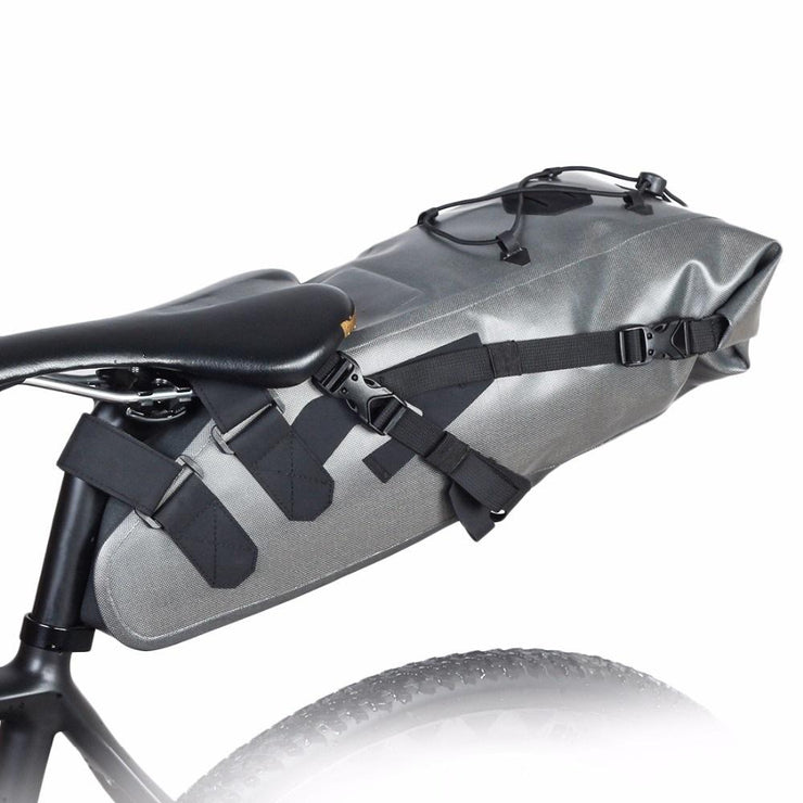 Waterproof Bike Bag (10 L Capacity) - Saddle Bag for Mountain / Road Bike