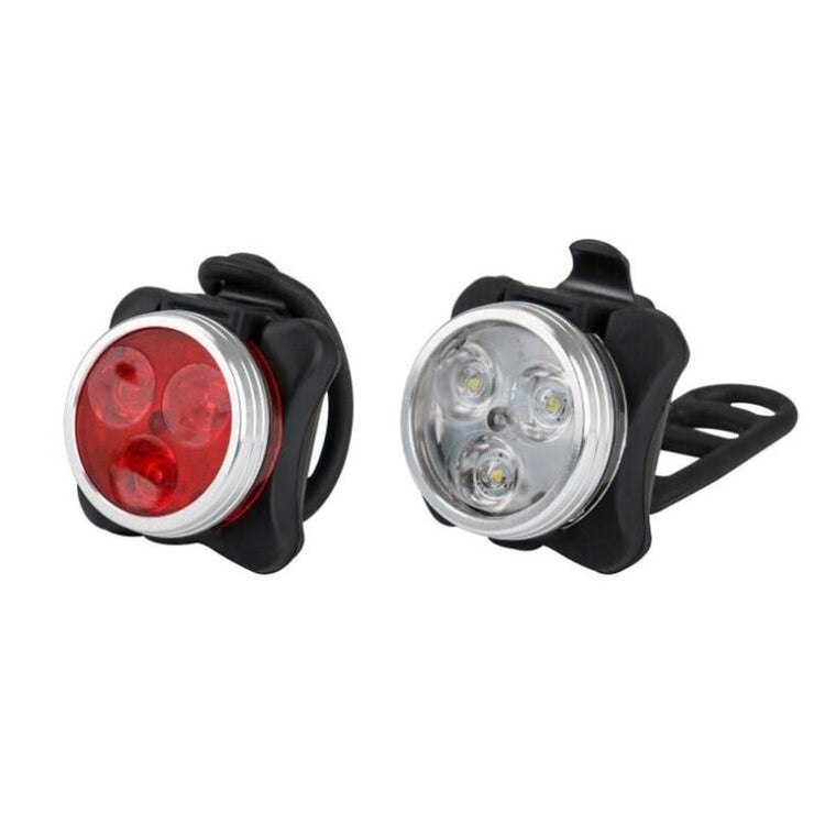 Waterproof Rechargeable LED Bicycle Light (Set of 2)