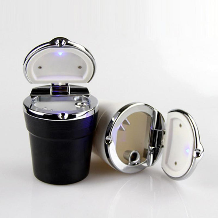 Car Ashtray Smokeless Cup Holder With LED Light Indicator (Set of 2)
