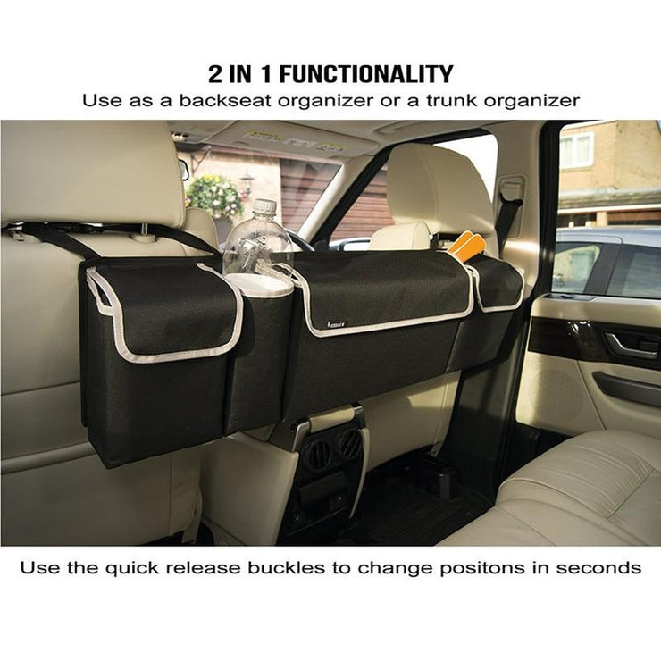 Car Back Seat Organizer High Capacity Storage Trunk Organizer