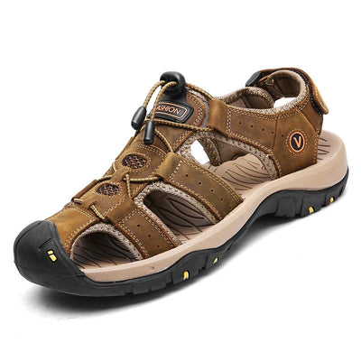 Hiking Sandals Comfortable Walking Leather Outdoor Shoes For Men