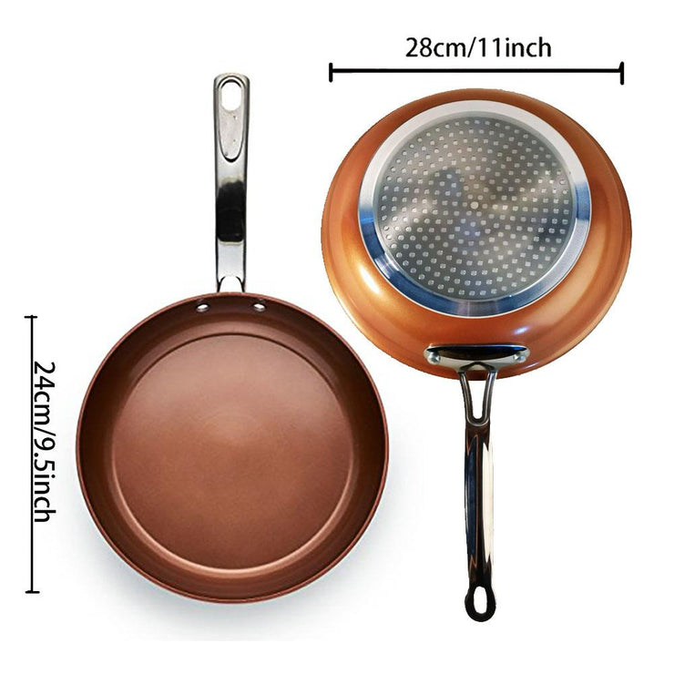 Non-Stick Ceramic Copper Round Cookware