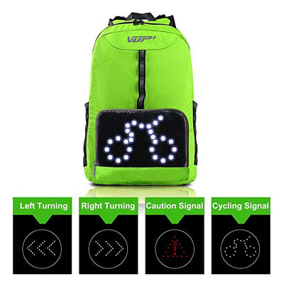 LED Signal Cycling Backpack